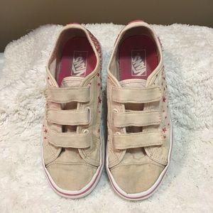 VANS Velcro pink glitter kids sneakers